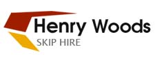 logo of henry woods skip hire