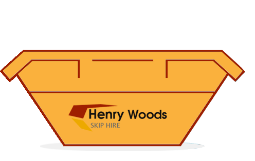 skip bin offered by Henry Woods Skip Hire